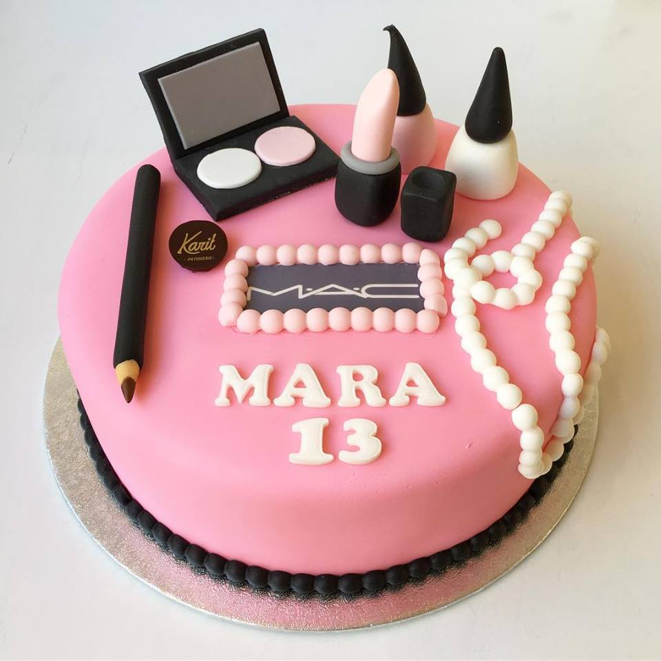 Awesome M A C Makeup Mara Karit Patisserie Personalised Birthday Cards Sponlily Jamesorg